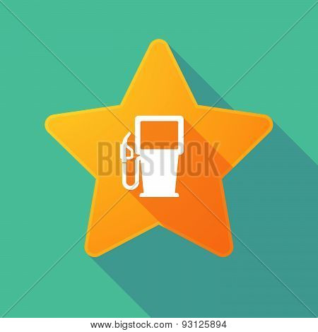 Star Icon With A Gas Station