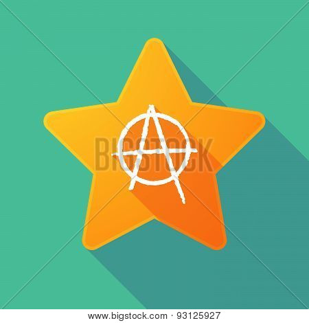 Star Icon With An Anarchy Sign