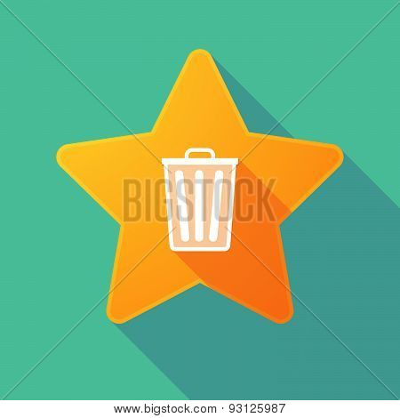 Star Icon With A Trash Can