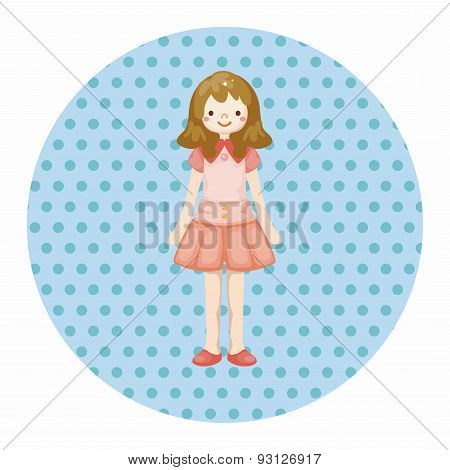 Lady Girl Cartoon Theme Elements