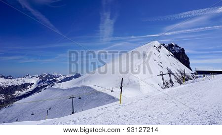 Snow Mountains Titlis And Cable Car