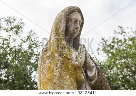 Stone Statue Of The Virgin Mary