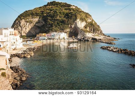 Sant'angelo Town At Ischia Island In Bay Of Naples.italy