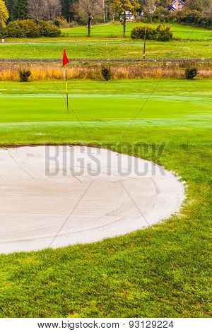 Sand Trap Near The Hole