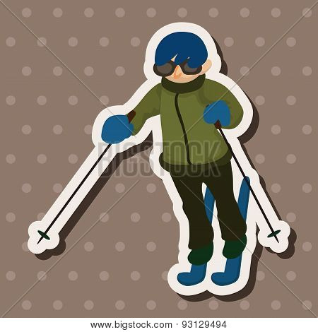 Skiers Theme Elements