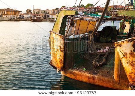 The Back Side Of A Fishing Trawler