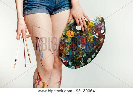 legs girl artist