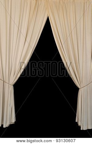Open Curtains Elegant Drapes