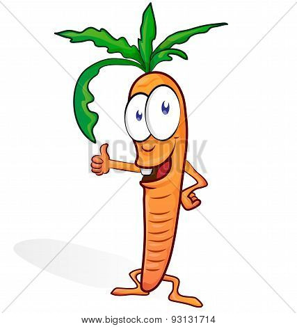 Fun Carrot Cartoon Isolated