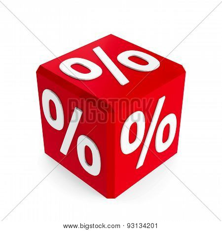 Red Percent Button