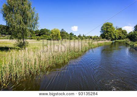 Scenic canal near Templin city, East Germany