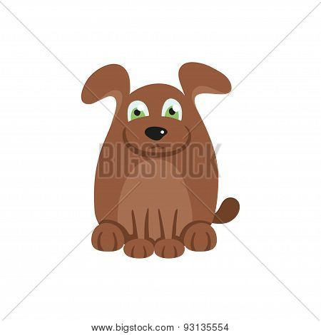 Cute dog with brown hair