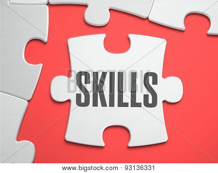Skills - Puzzle on the Place of Missing Pieces.