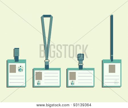 Brand Identity Elements - Lanyard, Name Tag Holder And Badge Templates. Save Water Conference With D