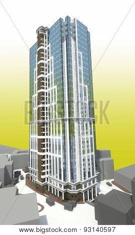 High Rise Modern Building