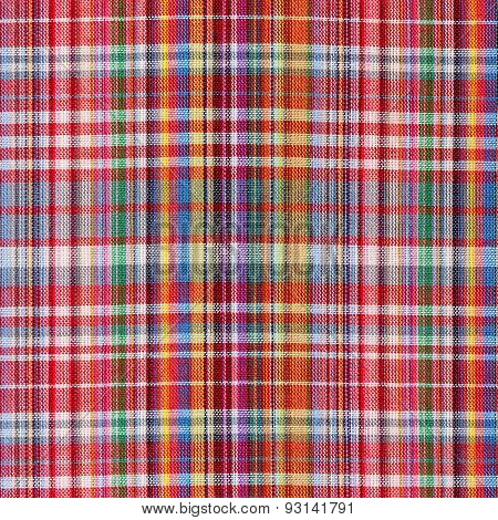 The Texture Of Plaid Fabric