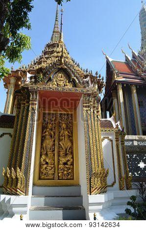 door of temple,thailand