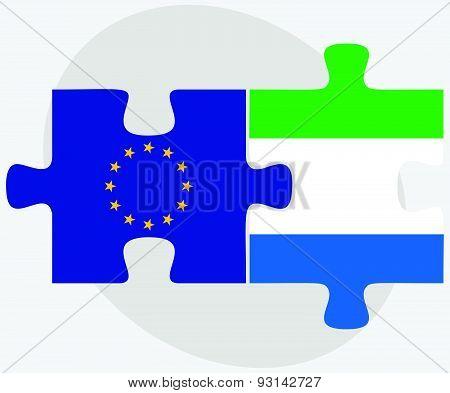 European Union And Sierra Leone Flags