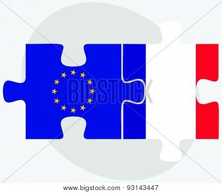 European Union And Saint Martin Flags