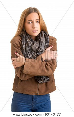 Woman Feeling Cold