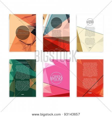 Set of Colorful Abstract Cover Designs - EPS10 Brochure Design T