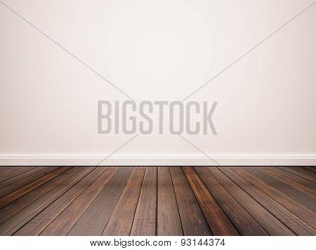 hardwood floor with white wall