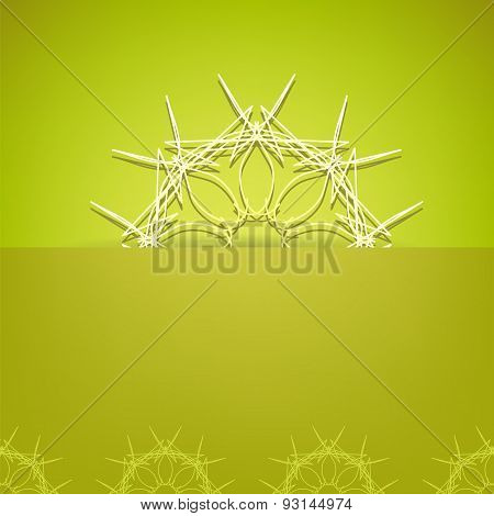 Abstract Ornamental Green Background