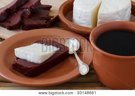 Brazilian Dessert Romeo And Juliet, Goiabada, Minas Cheese