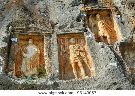 Adamkayalar - Rock Carved Figures. Turkey