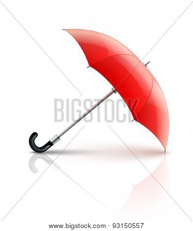Red umbrella. Eps10 vector illustration. Isolated on white background