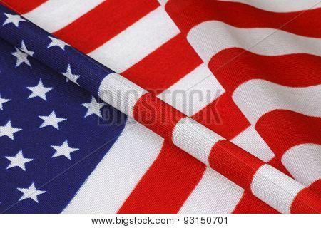 Waved United States Flag