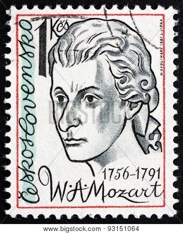 Postage Stamp Czechoslovakia 1981 Wolfgang Amadeus Mozart, Compo