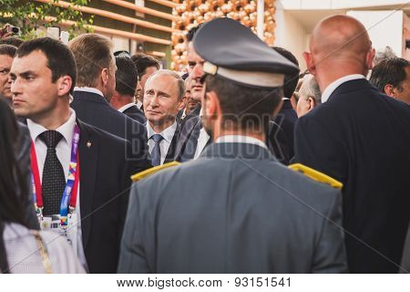 Russian President Putin Visits Expo 2015 In Milan, Italy