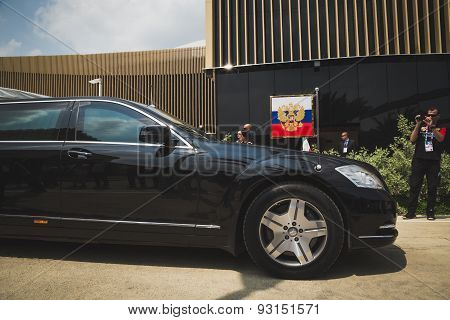 Russian Presidential Car At Expo 2015 In Milan, Italy