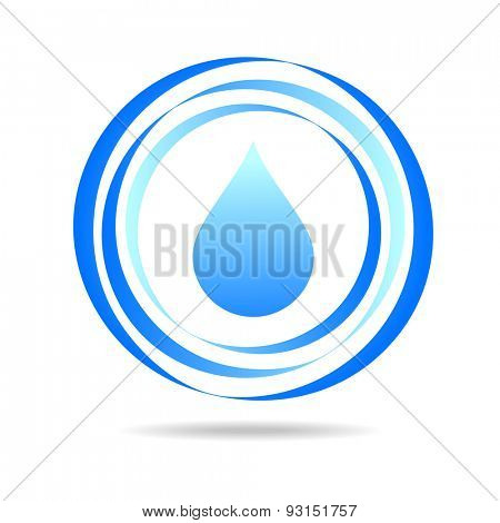 Water drop abstract vector logo design template. Waterdrop creative shape such as logotype. Clear water - concept symbol. Eco emblem.