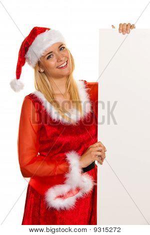 Santa Claus Weihnachten Platte für Wünsche