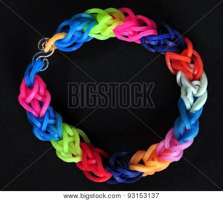 Rainbow Colors Rubber Bands Loom Bracelet