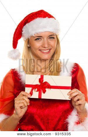 Weihnachtsmann zu Weihnachten mit Geschenken.