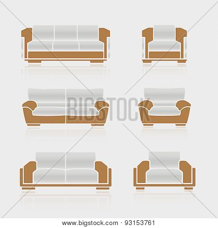 S.et Of Sofas And Armchairs