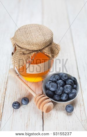 Honey and blueberry