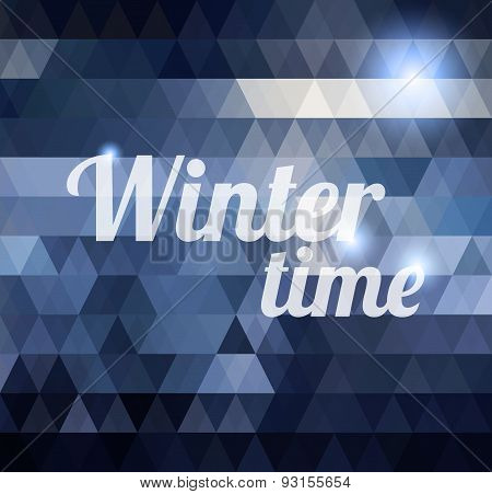 Winter time geometric background