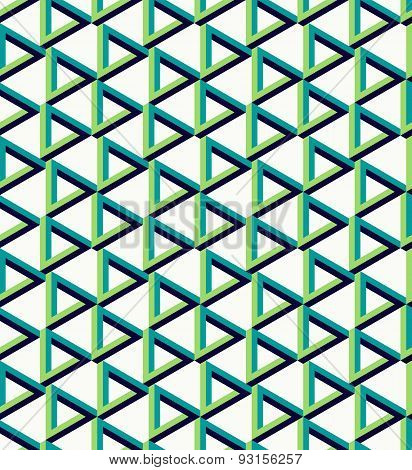 Isometric Unreal Triangle Pattern Background