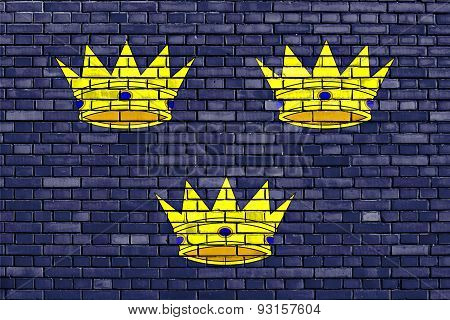 Flag Of Munster Painted On Brick Wall