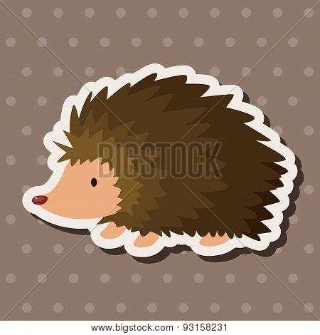 Animal Hedgehog Cartoon Theme Elements