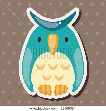 Animal Owl Cartoon Theme Elements