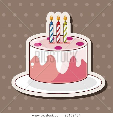 Birthday Decorating Cake Theme Elements