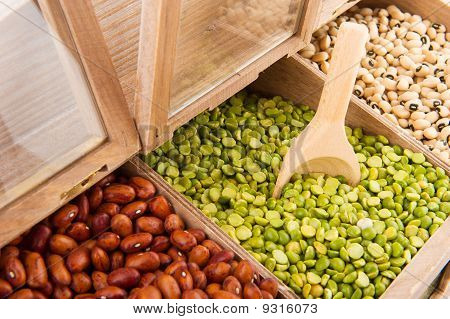 Legumes In Shop Shelf