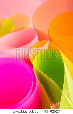 creative color paper background in pink tones.