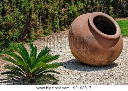 Landscape Design With Vintage Amphora