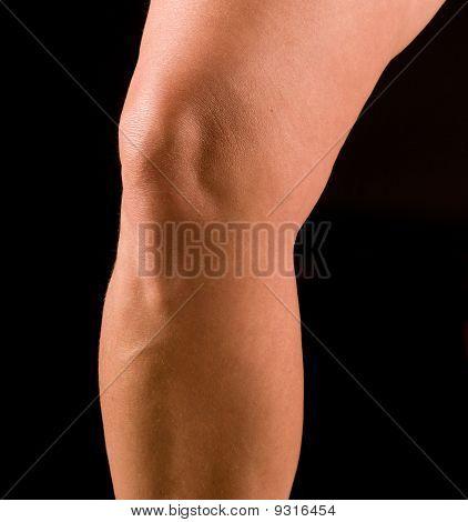 woman's knee
